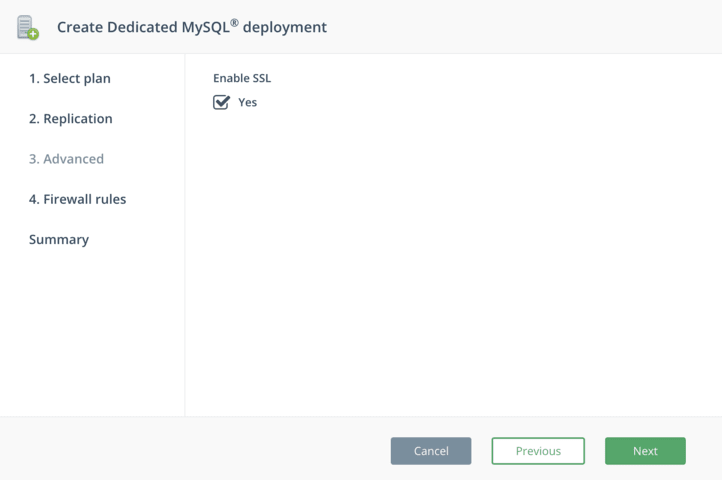 Create MySQL on DigitalOcean - Step 3