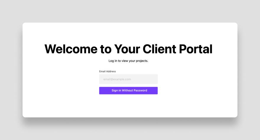 Cotter login form in a Next.js application