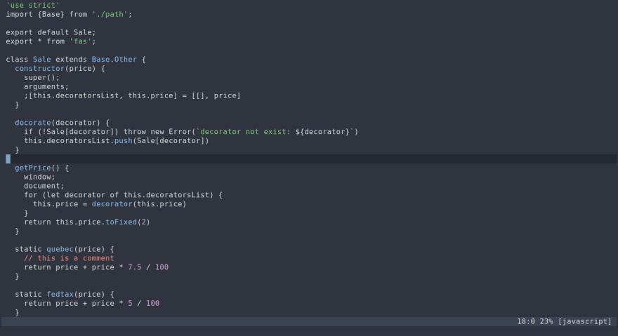 some javascript code