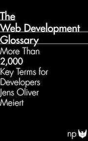 """The cover of """"The Web Development Glossary."""""""