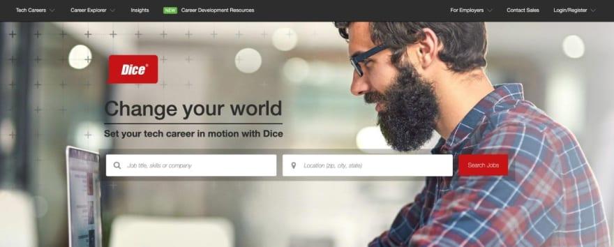 Dice website