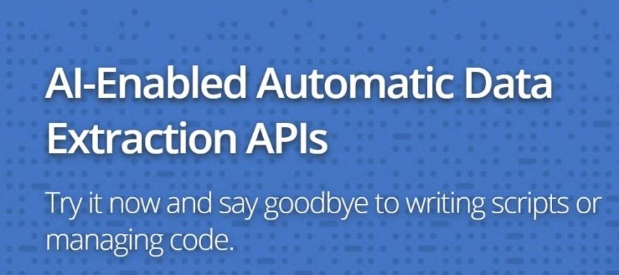 AutoExtract API Overview