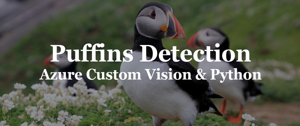 Cover image for Puffins Detection with Azure Custom Vision and Python