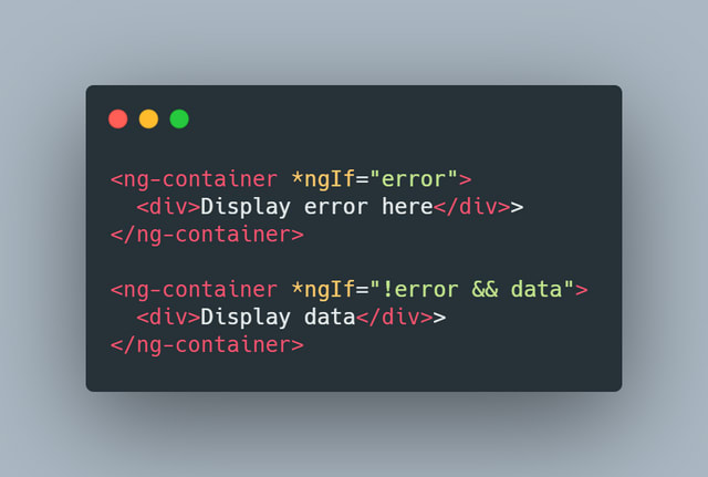 naive data and error presentation