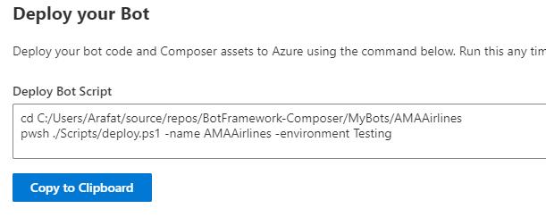 Deploy Bot Framework Bot to Azure