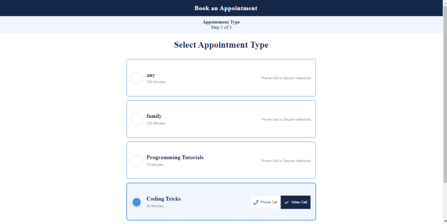 spurwing-open-source-widget-appointment-type