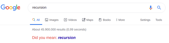 google-recursion