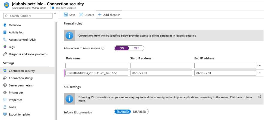 MySQL firewall rules