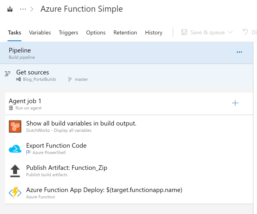 Build process in Azure DevOps