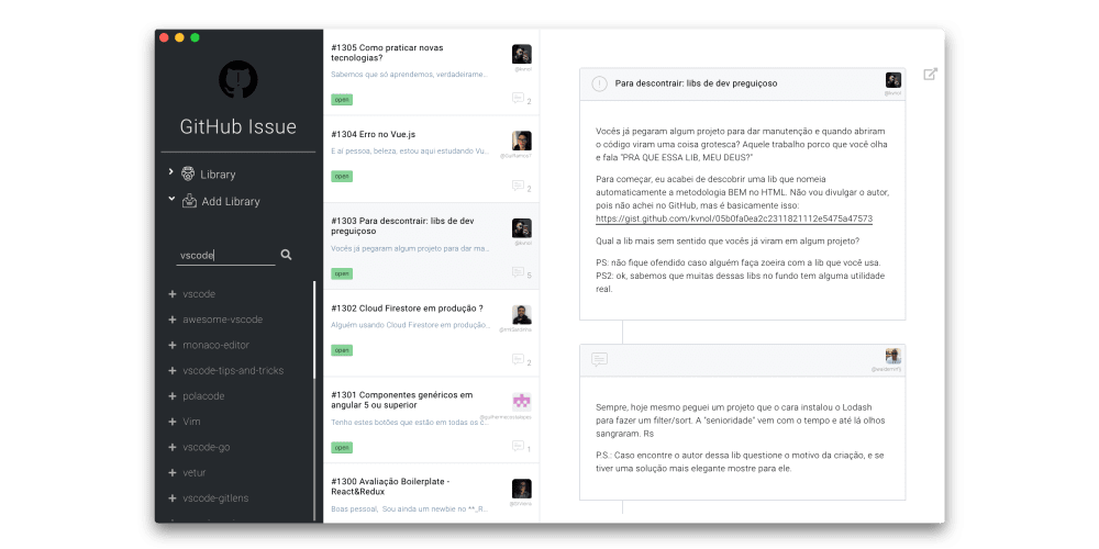 GitHub Issue - Desktop App - DEV Community 👩 💻👨 💻