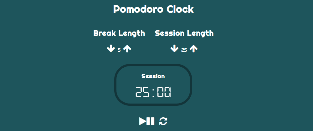 Cover image for freeCodeCamp's Pomodoro Clock project built in Elm