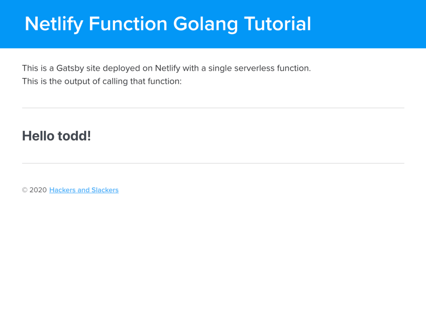 Deploy Serverless Golang Functions with Netlify