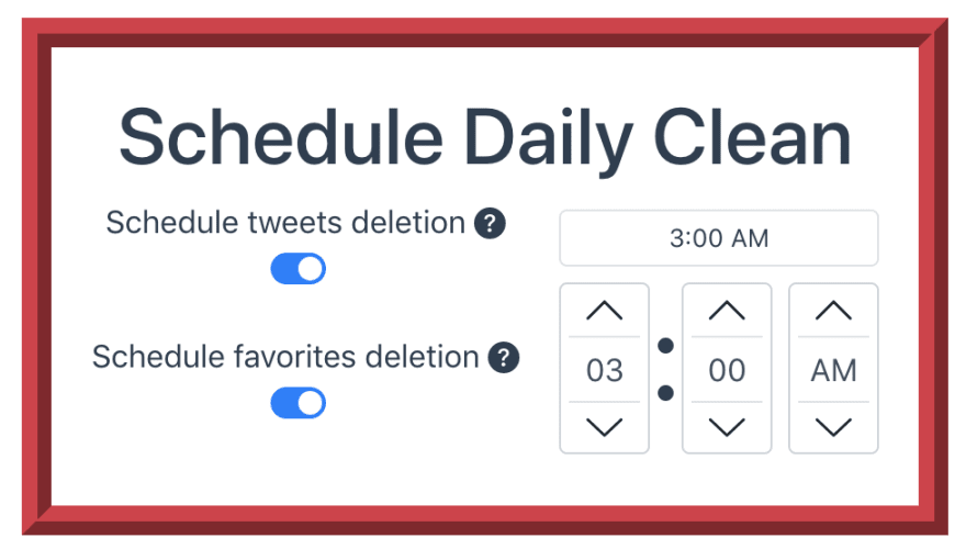 Social Amnesia daily schedule feature to remove twitter content