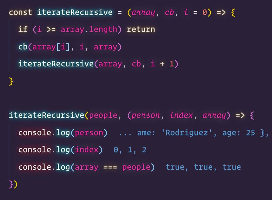 Recursive function loop