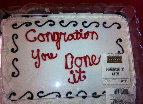 congration you done it