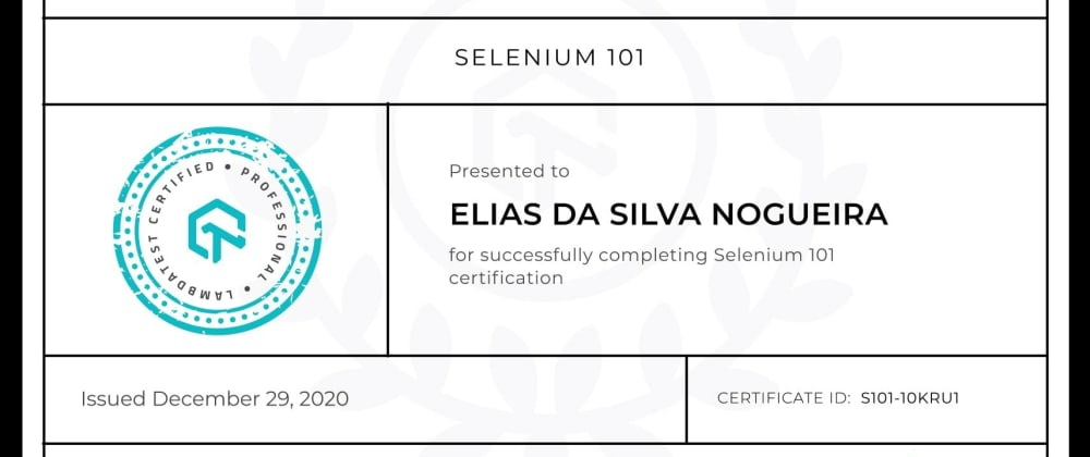 Cover image for Thoughts on Selenium 101 Certification from LambdaTest