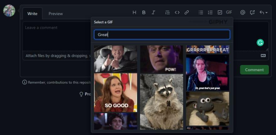 GIFs extension screenshot
