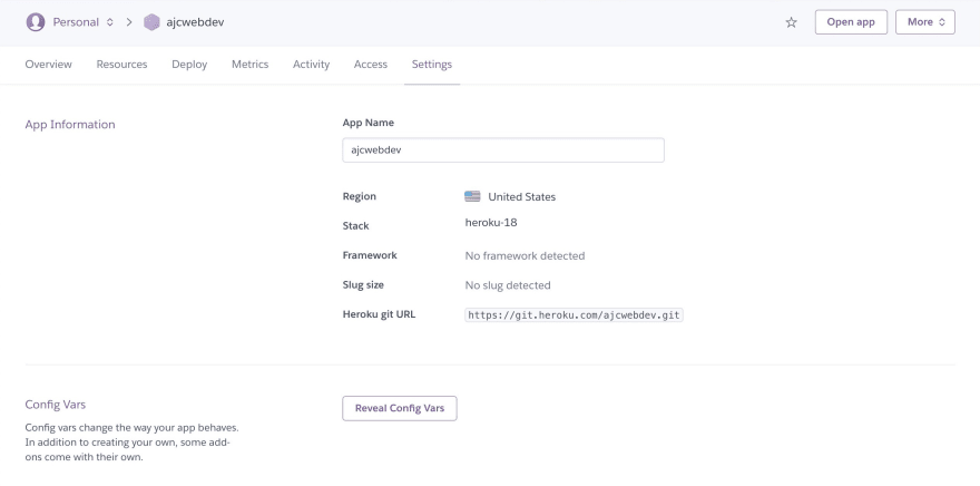 28-heroku-settings