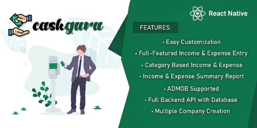 React Native Mobile App: Cash Guru