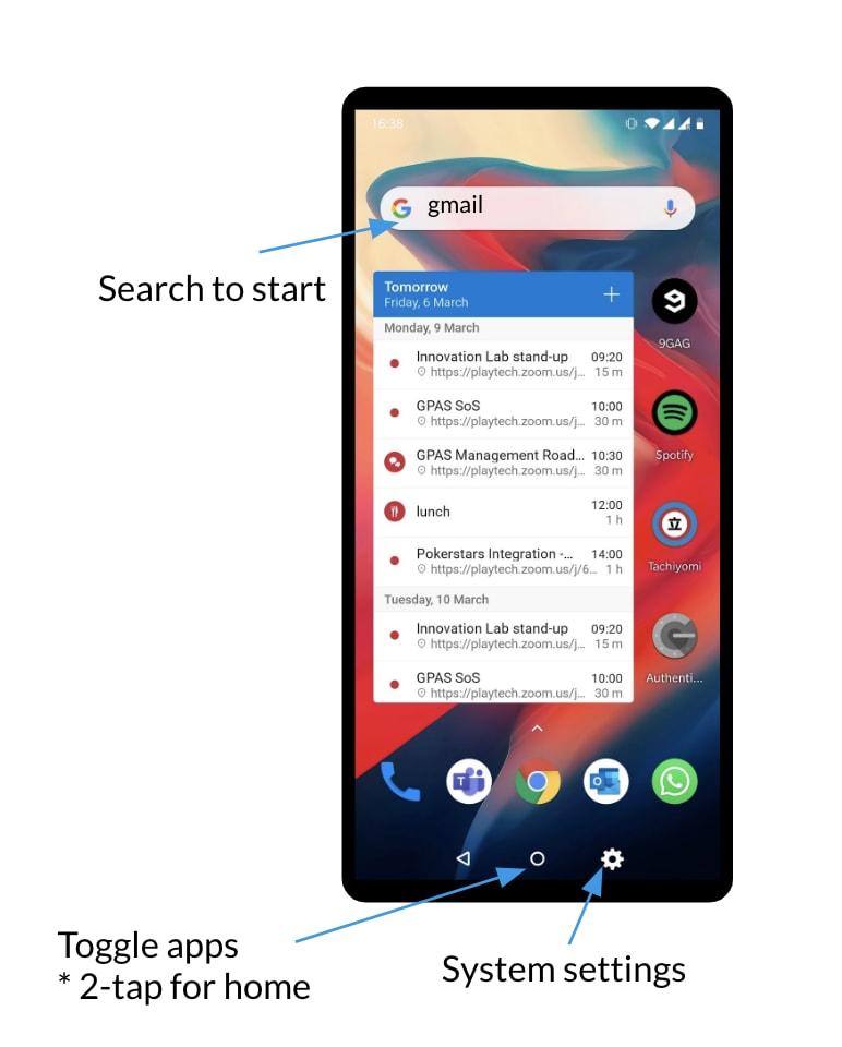 PWA phone UI