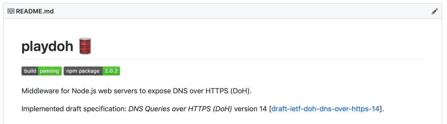 Playdoh GitHub repository