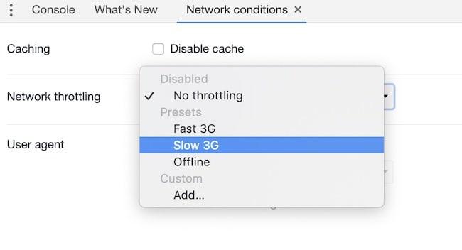 Slow 3G Throttling