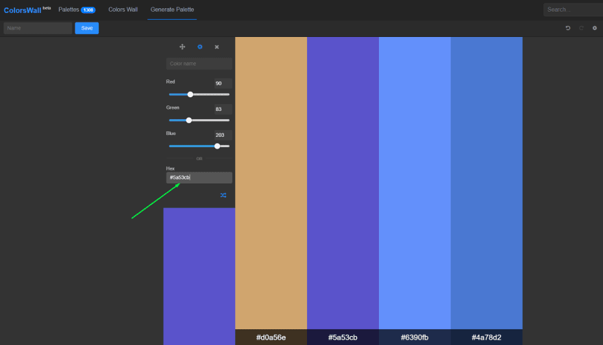 Primary color for tints/shades