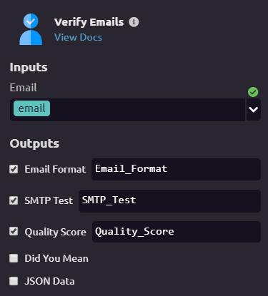 Verify Emails configuration