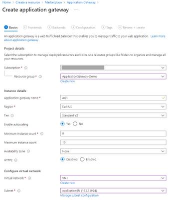 Application Gateway - Basic