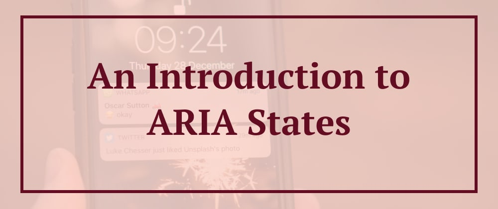 Cover image for An Introduction to ARIA States