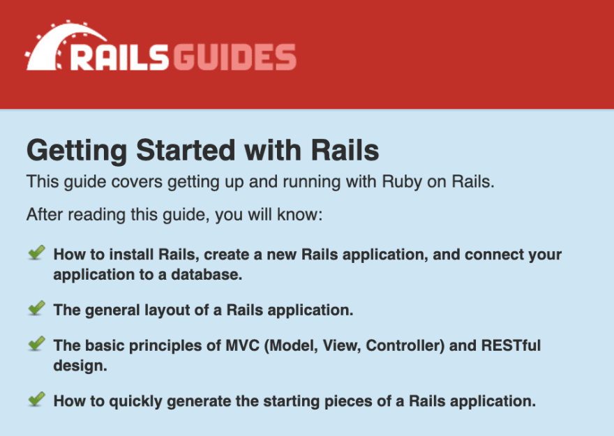 The offical Getting Started from the Rails website