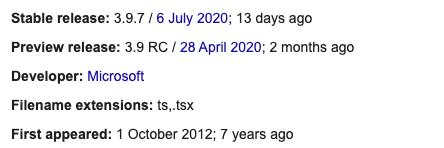Wikipedia TypeScript