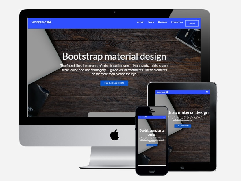 10 Bootstrap Material Design Responsive Html5 Website Templates Free Download Dev