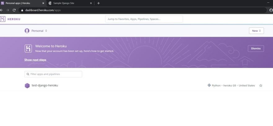Host A Django Website Using Heroku Dev