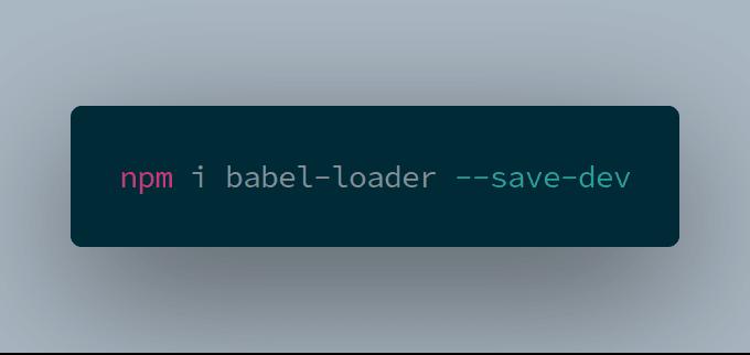 babel-loader install