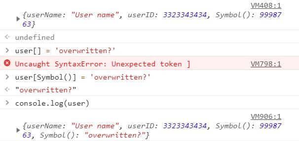 JavaScript Symbol Property