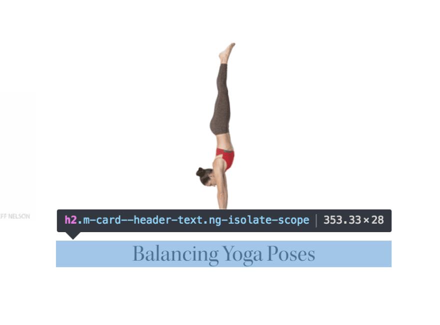 Close up hovering view of Balancing Yoga Poses