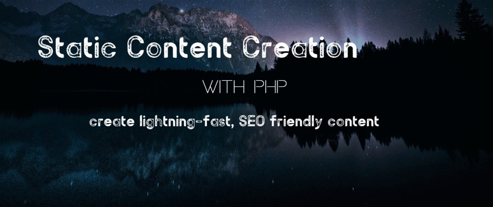 Cover image for Static content pages - still the fastest web-experience