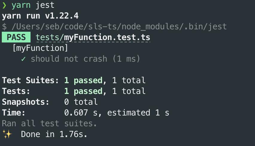 passing tests