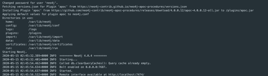 Docker Neo4j Logs