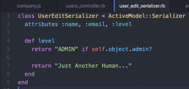 My User Serializer