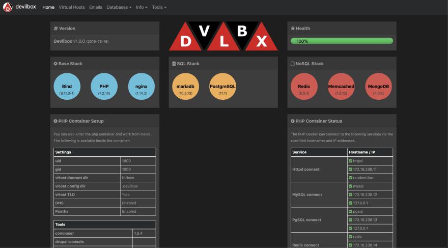 Web Development Environment using Devilbox - DEV Community