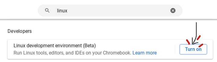 Linux Installer on Chrome OS