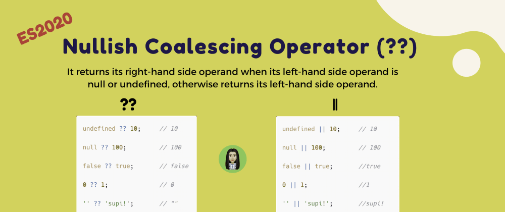 Cover image for Nullish coalescing operator (??)