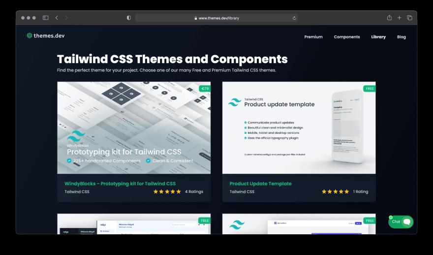 Screenshot of Themes.dev website