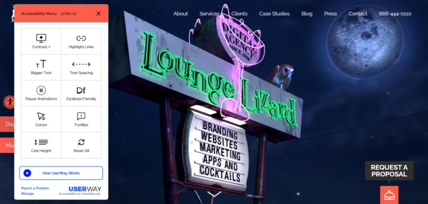 Lounge Lizard's developer portfolio