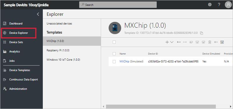 Explorer page