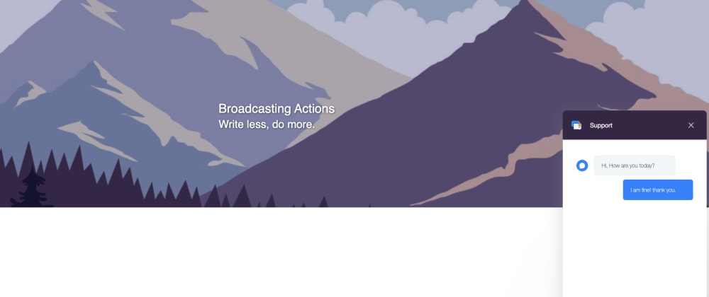 Cover image for Broadcasting Actions — Integrate your React-Redux App with your backend