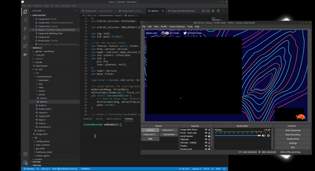 VSCode's window is blacked out in OBS, but my cursor is still visible...