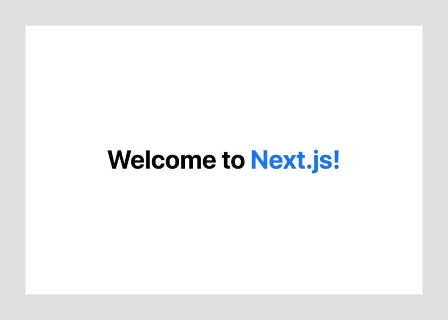 Next.js Welcome Screen Shot